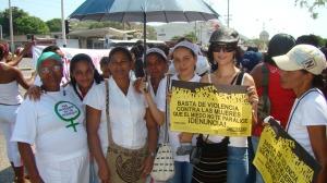 Vår systersektion LIMPAL i Colombia på demonstration.