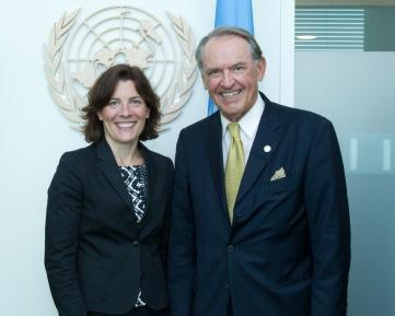 Karin Enström och Jan Eliasson i FN igår. Foto: UN Photo/JC McIlwaine