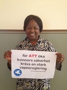 Annie Matundu Mbambi, ordförande IKFF DR Kongo, på besök i Sverige 2012.