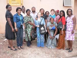 På besök hos vår systersektion i Nigeria.