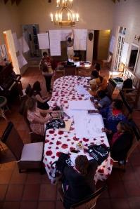 Många intressanta idéer diskuterades under mötet.