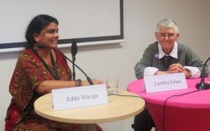 Edda Manga och Cynthia Enloe på vårt seminarium Women's Power to Stop Fascism.