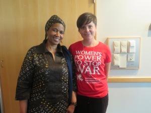 Phumzile Mlambo-Ngcuka, verkställande direktör UN Women tillsammans med vår generalsekreterare Josefine Karlsson.