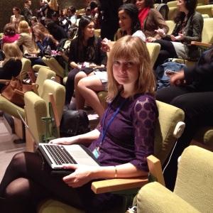 Här är jag på plats i FN:s säkerhetsråd för att lyssna på Sveriges uttalande i säkerhetsrådet.